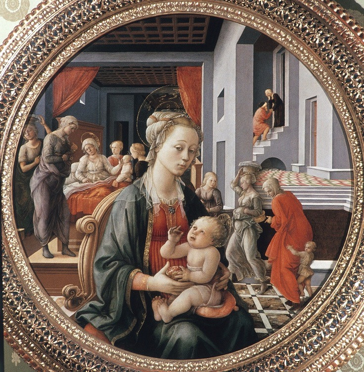 Fra Lippo Lippi, Madonna and Child, 1452 -- in the Pitt Palace's Palatine Gallery