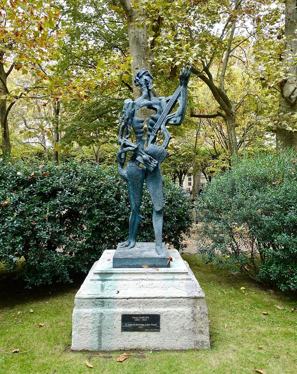 Homage to Paul Eluard by Ossip Zadkine