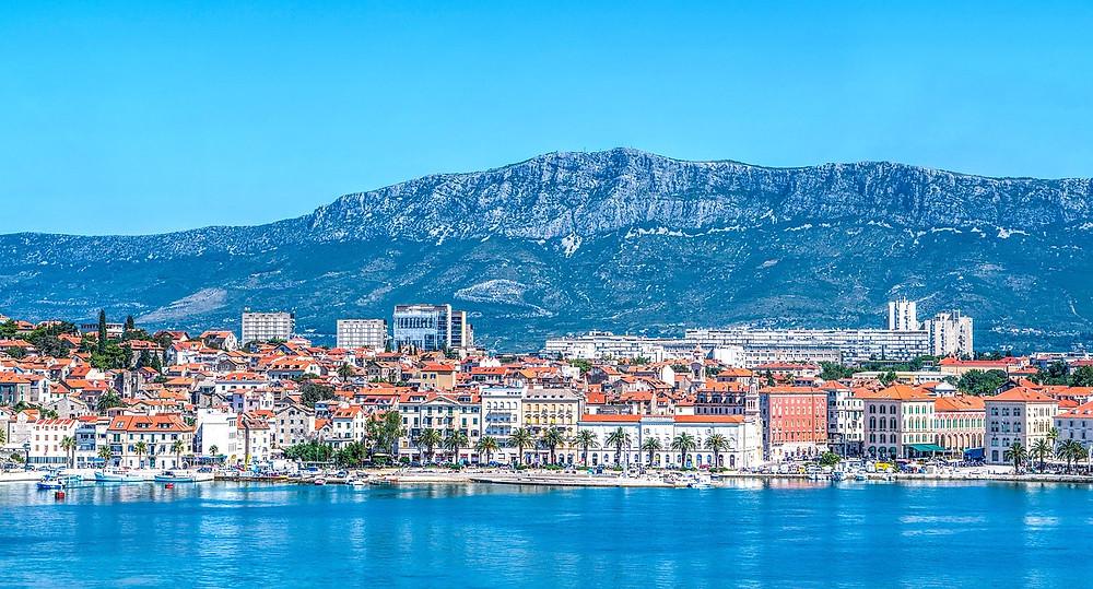 panorama of Split Croatia