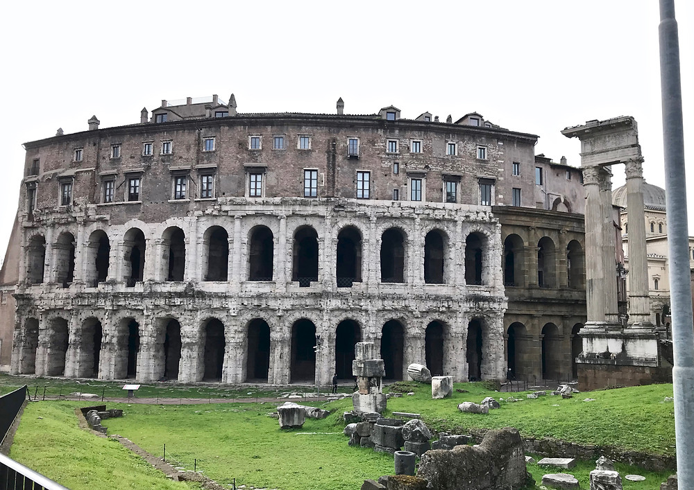 the ruins of the Theater of Marcellus