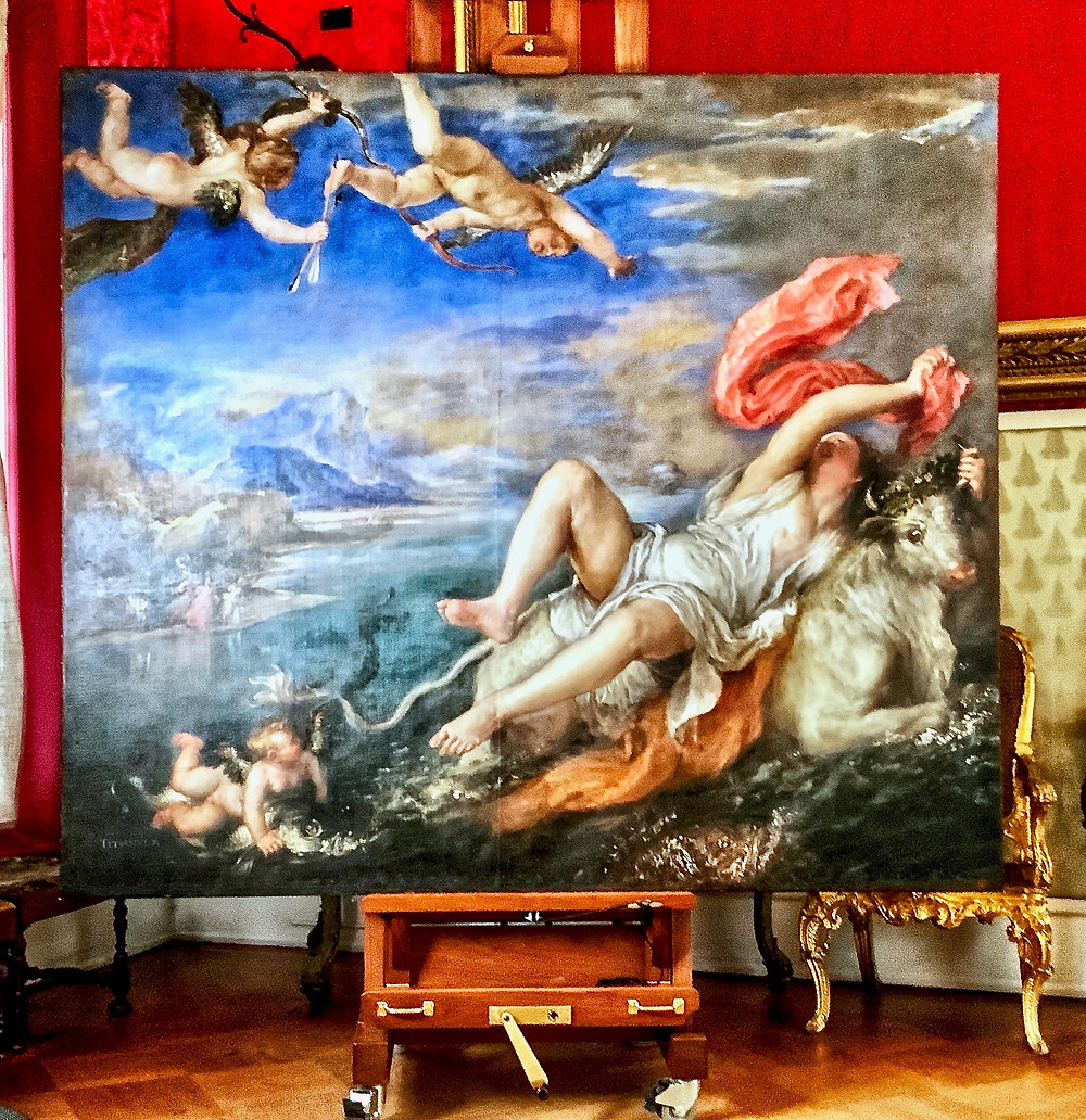Titian's Rape of Europa undergoing conservation