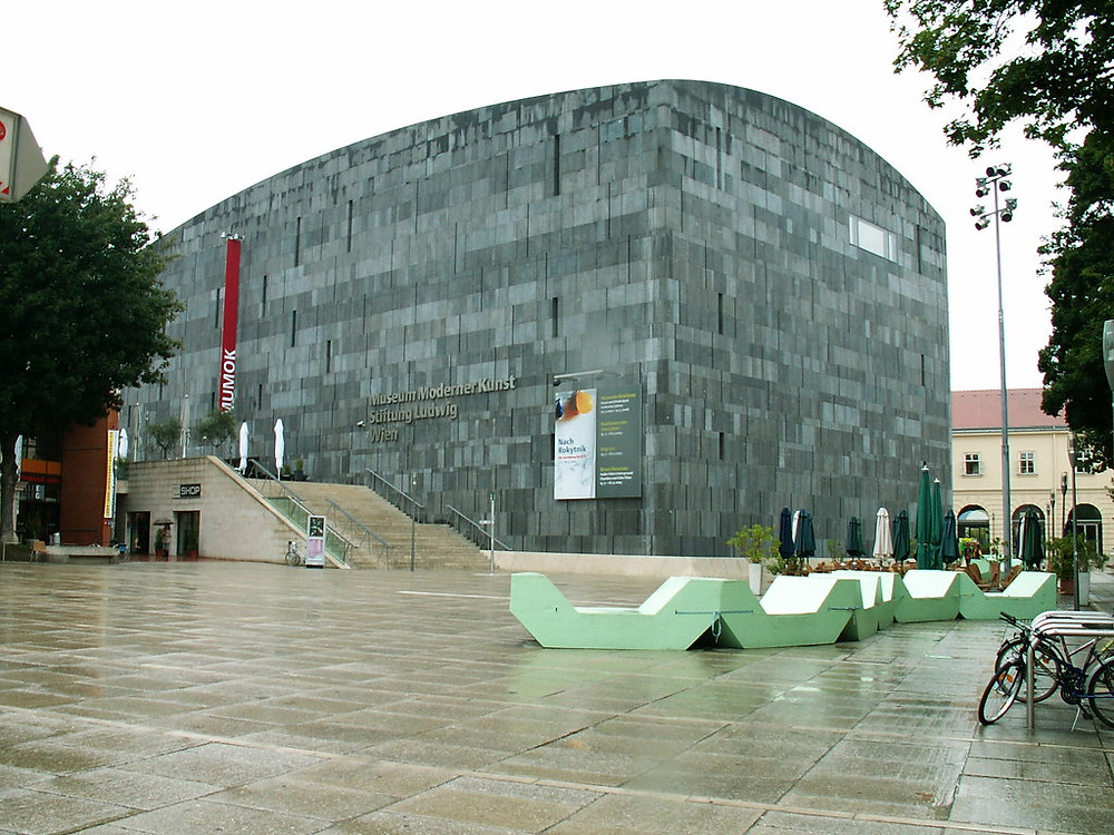 the Mumok Museum in MuseumQuarter