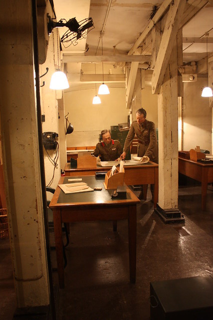desks and offices in the cabinet war rooms
