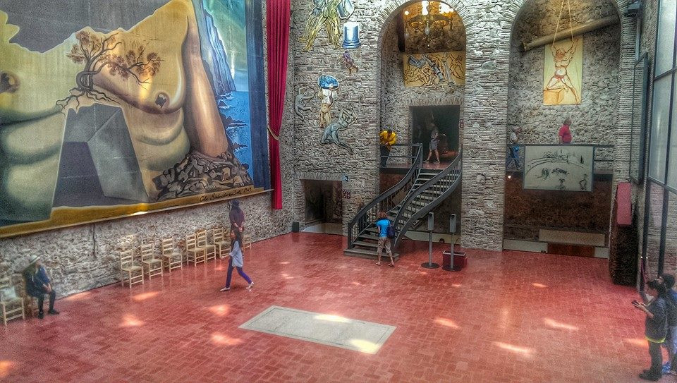the Grand Hall of the Salvador Dali Museum in Figueres Spain