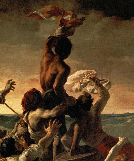 detail of a moment of hope on the Raft of the Medusa