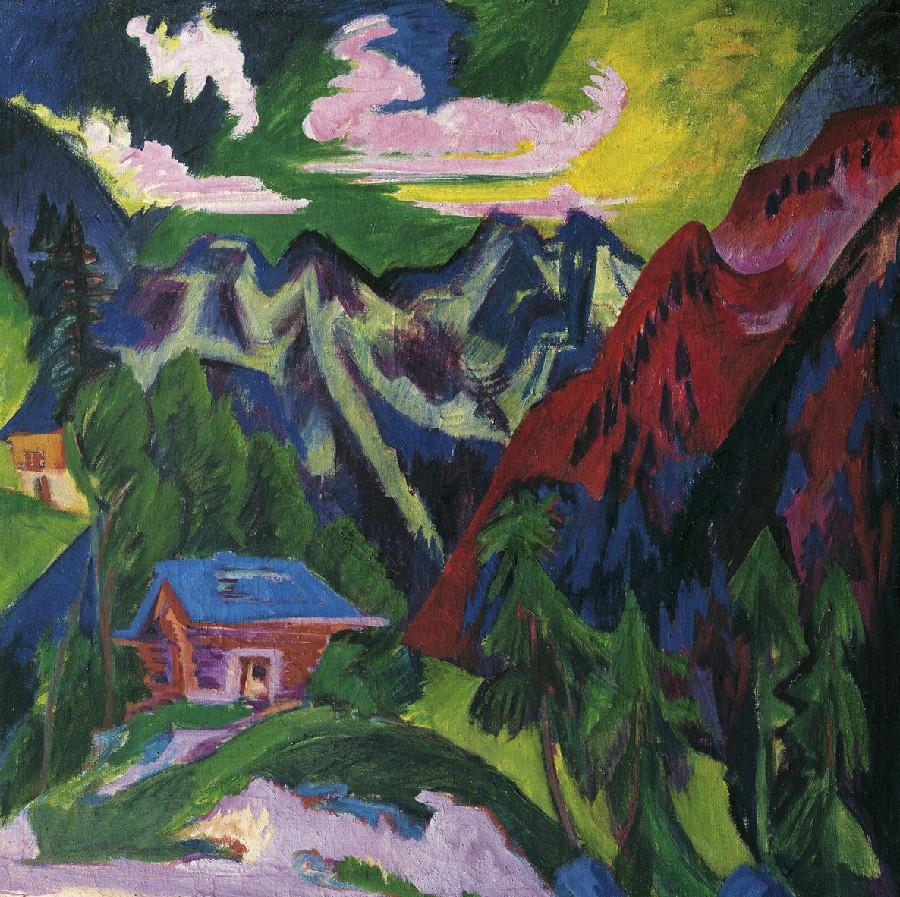 Edvard Kirchner, The Mountinas of Kloster, 1923