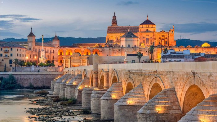 Córdoba's Roman Bridge with the Mezquita in the background