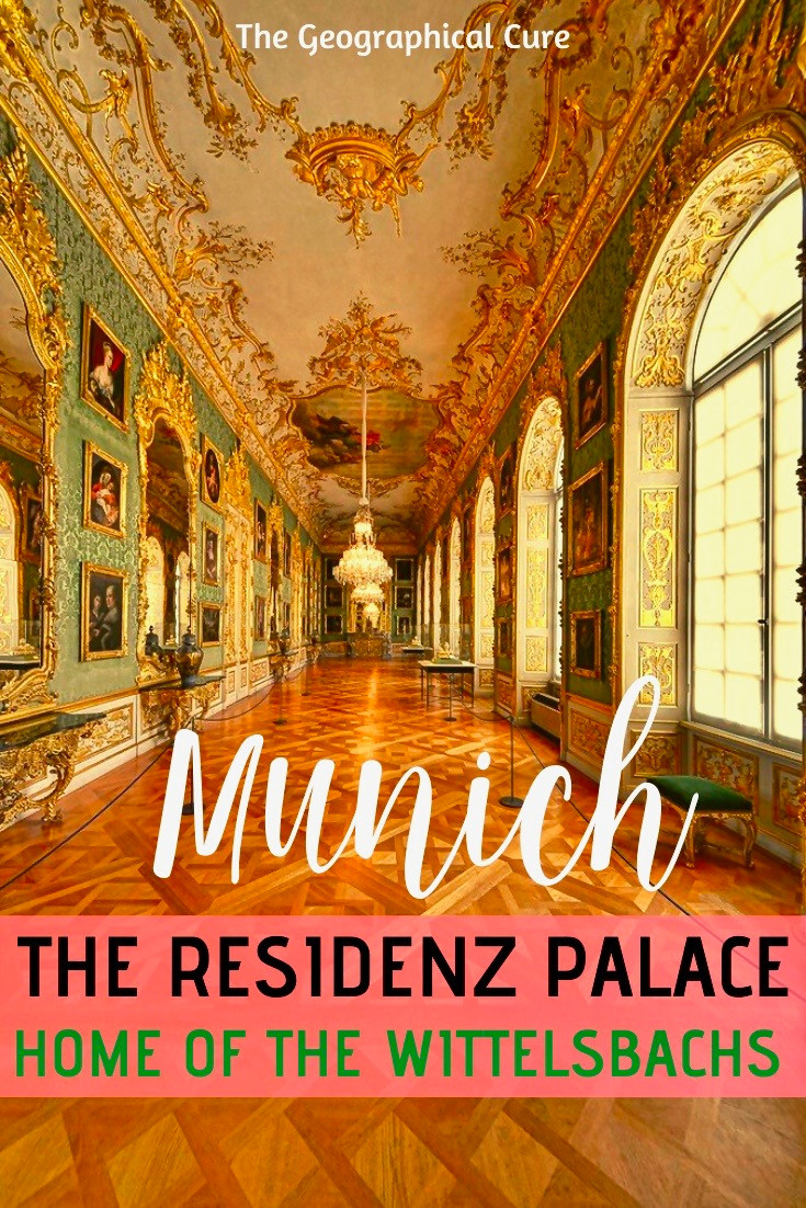 the Munich Residenz, the Wittelsbach' fancy city palace and a must see site in Munich Germany