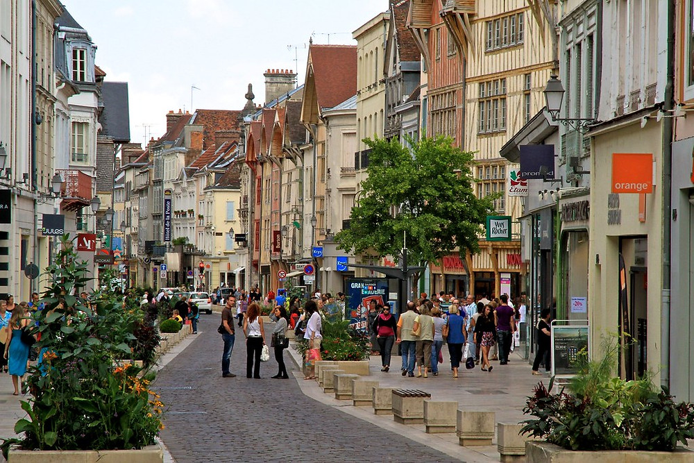 the medieval village of Troyes france with its romantic half timbers