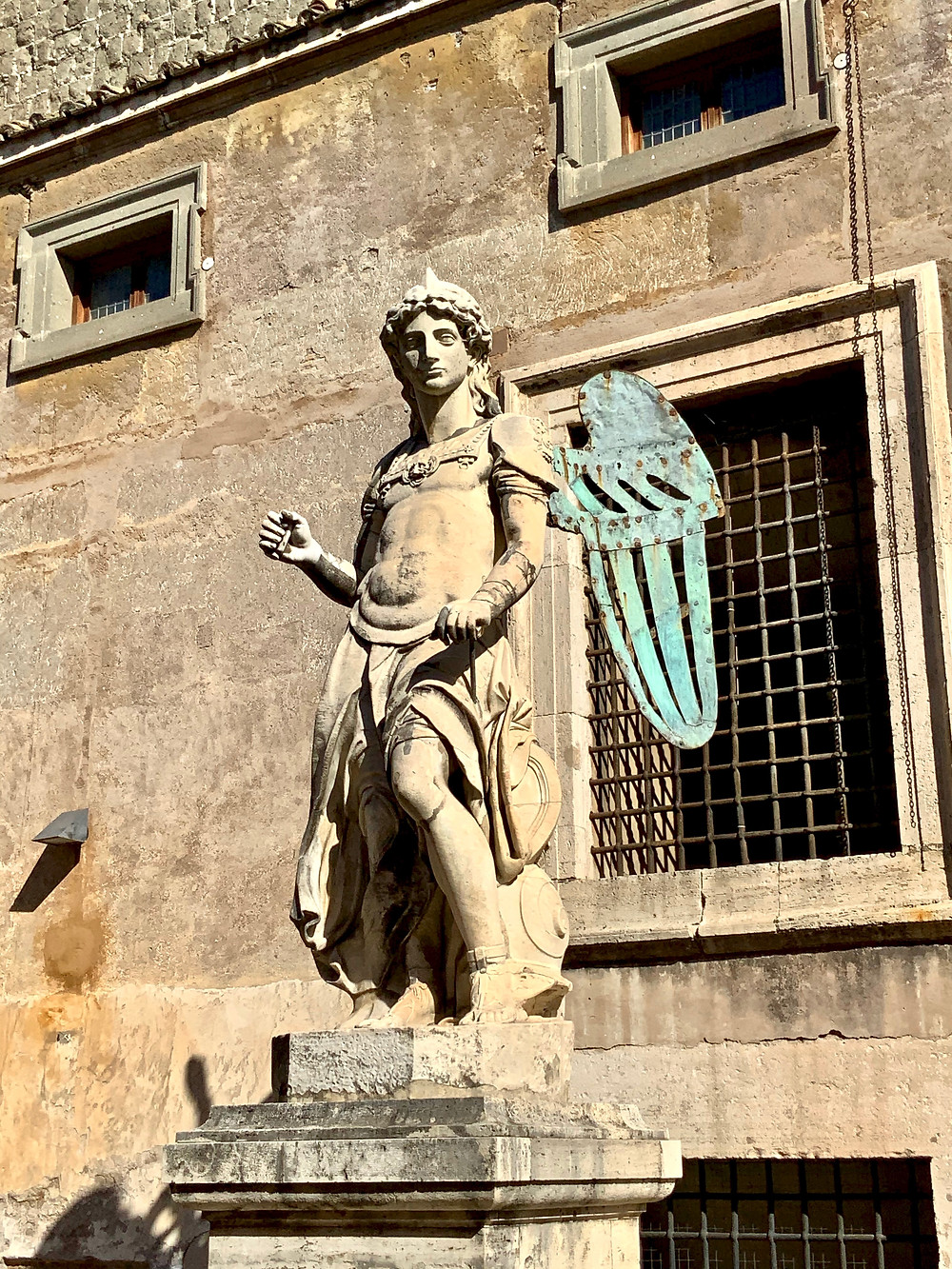 statue of the Archangel Michael in the Courtyard of the Angel