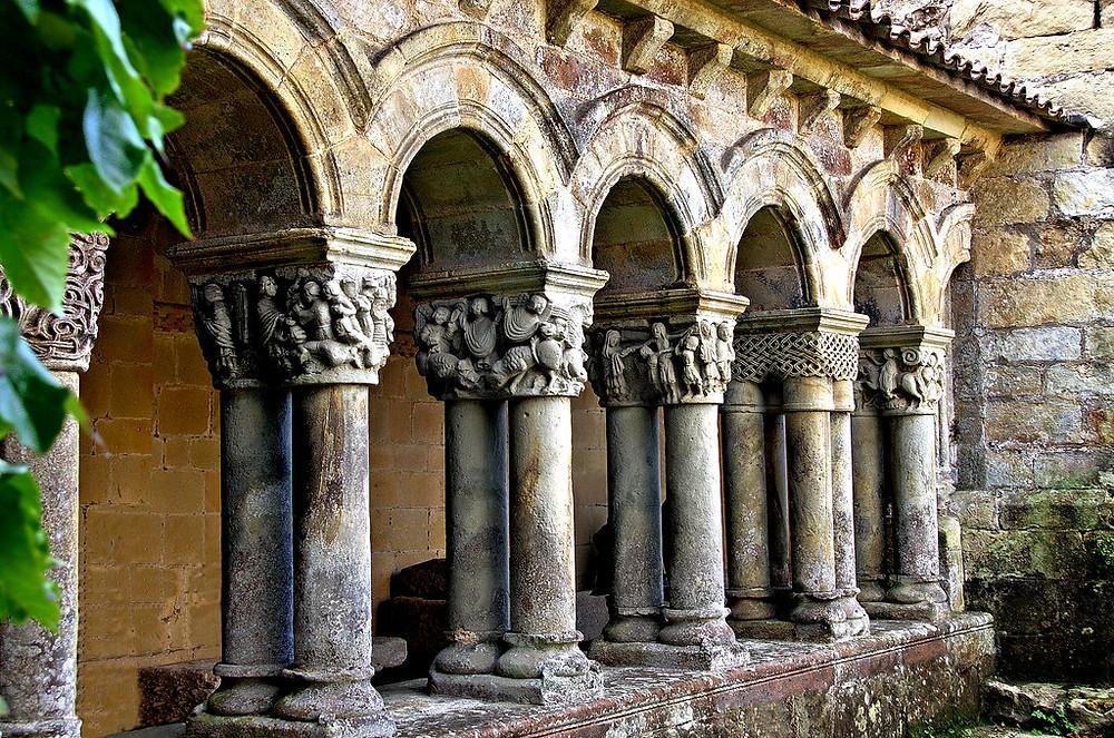 cloisters of the Collegiate Church in Santillana del Mar