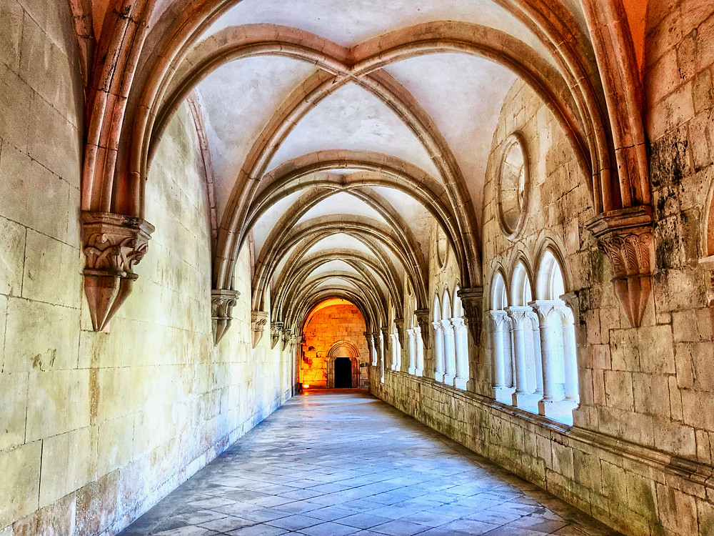 vaulted passageways in the cloister