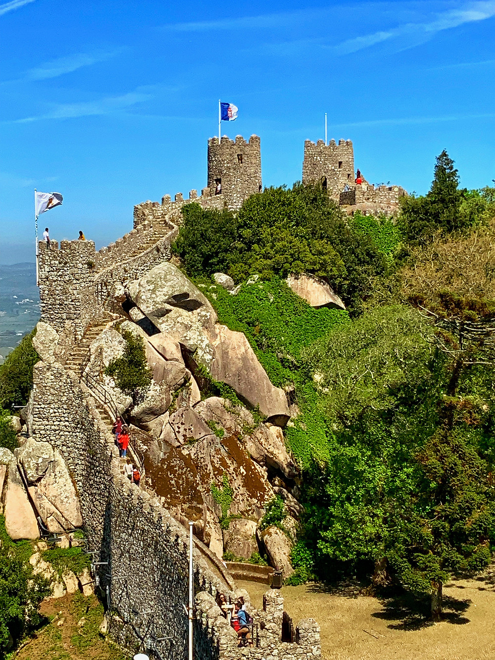 ramparts of the Moorish Castle in Sintra Portugal