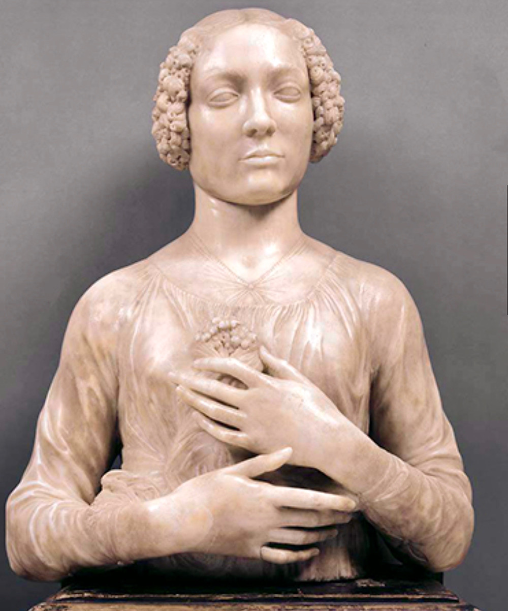 Verrochio's Lady with the Primroses in Florence's Bargello Museum