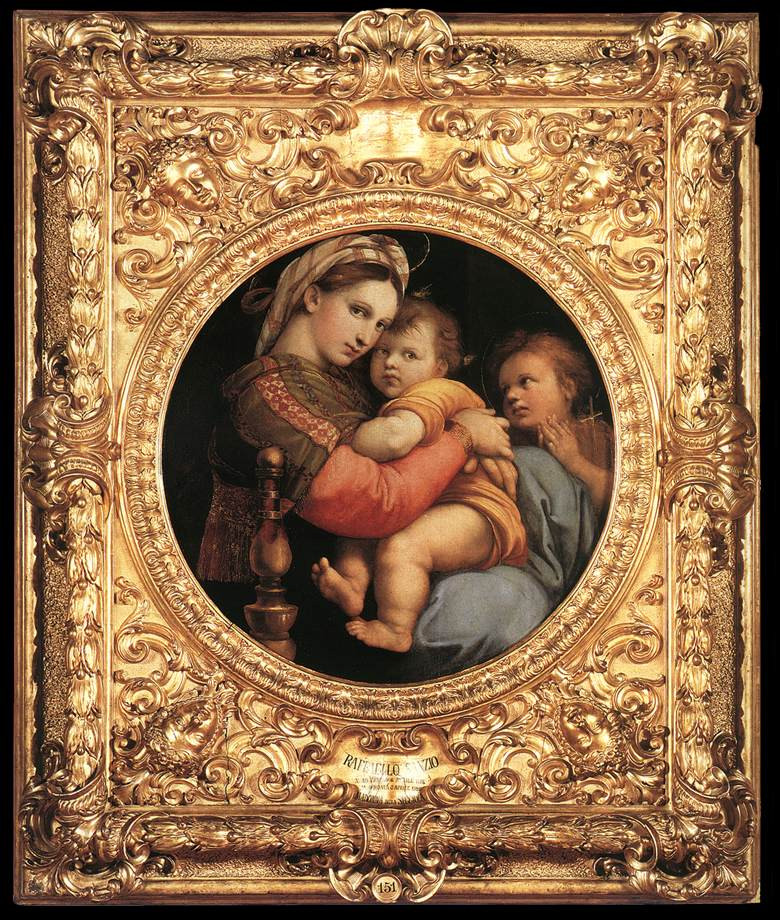 Raphael's Madonna of the Chair in Florence's Pitti Palace