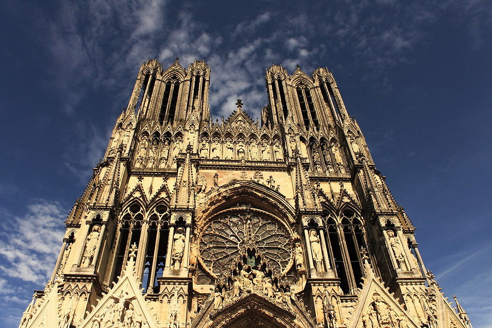 Reims Cathedral in Reims France