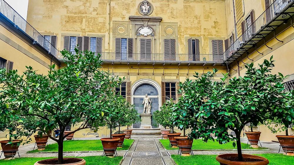 walled Lemon Garden in the Palazzo Medici-Riccardi