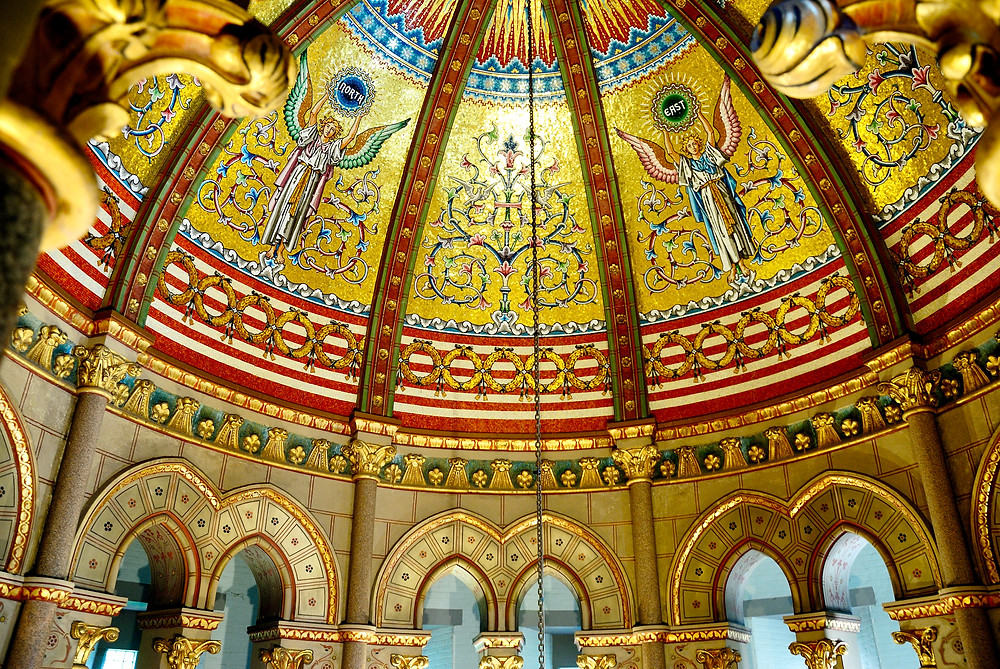 Interior of the James A. Garfield Memorial located in Lake View Cemetery