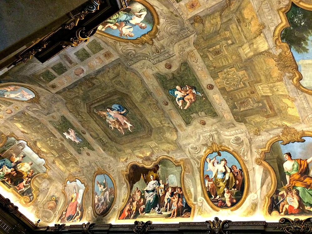 ornate fresco in Eroica Hall