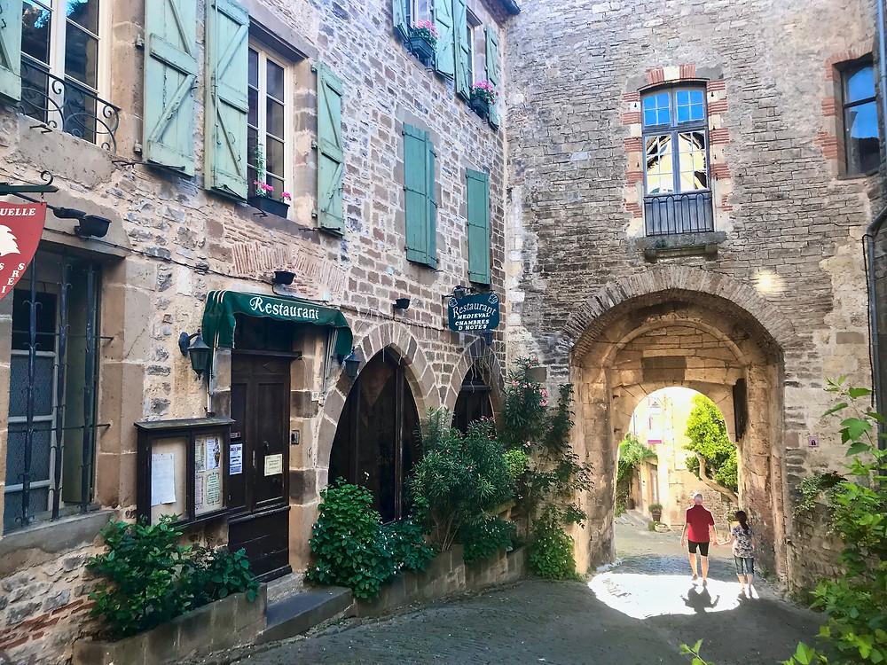 a dreamy street in Cordes Sur Ciel
