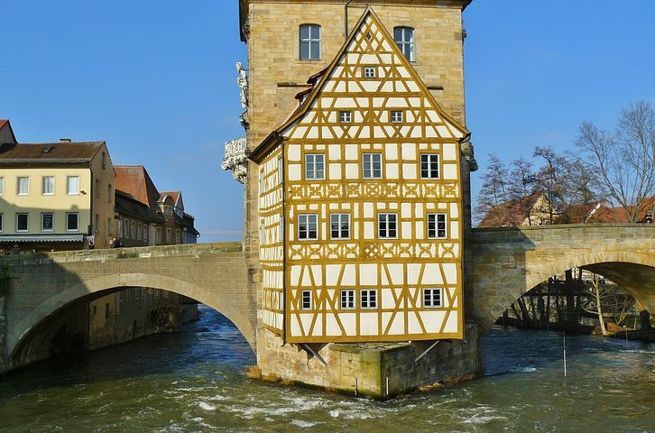 the frescoed Town Hall of Bamberg