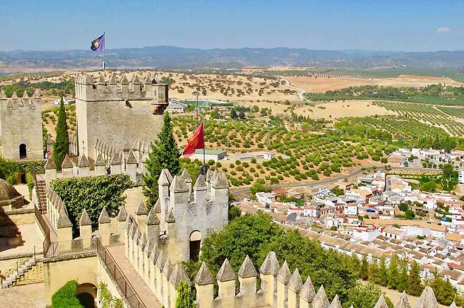 the 10th century Alcazaba castle in Almeria Spain