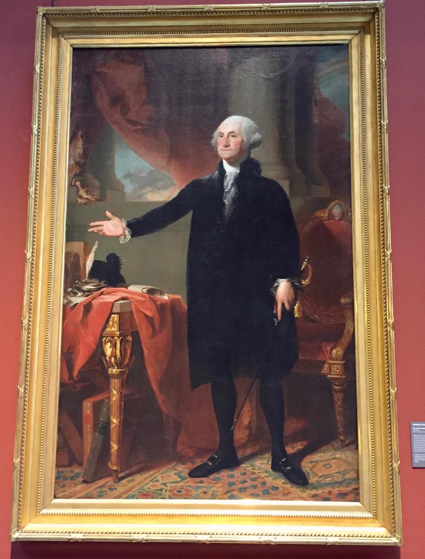 "Gilbert Stuart, George Washington, 1796 -- also known as ""The Landsdowne Portrait"""