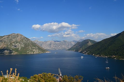views of the bay of Kotor from the fortress castle