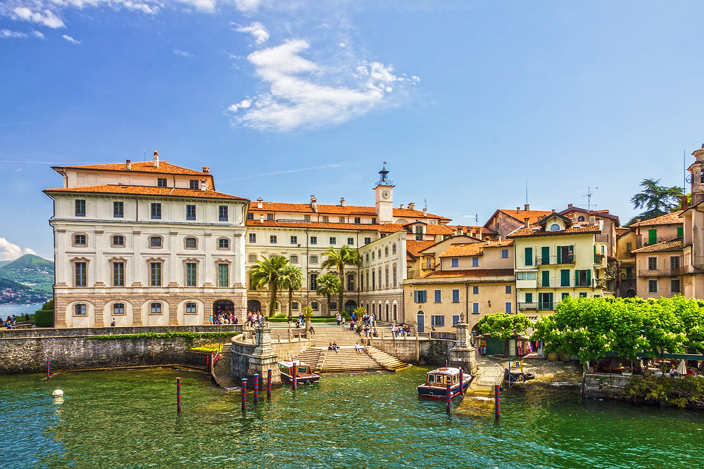 the village of Stresa on Lake Maggiore in Italy's Lake District