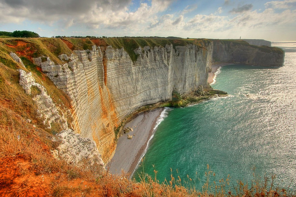 white cliffs of Etretat Normandy