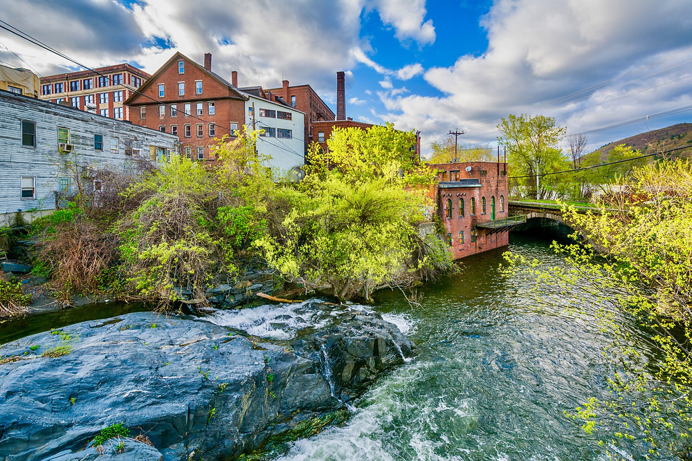 Whetstone Brook in Brattleboro, Vermont