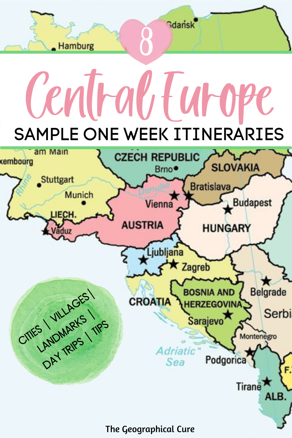 one week itineraries for Central Europe