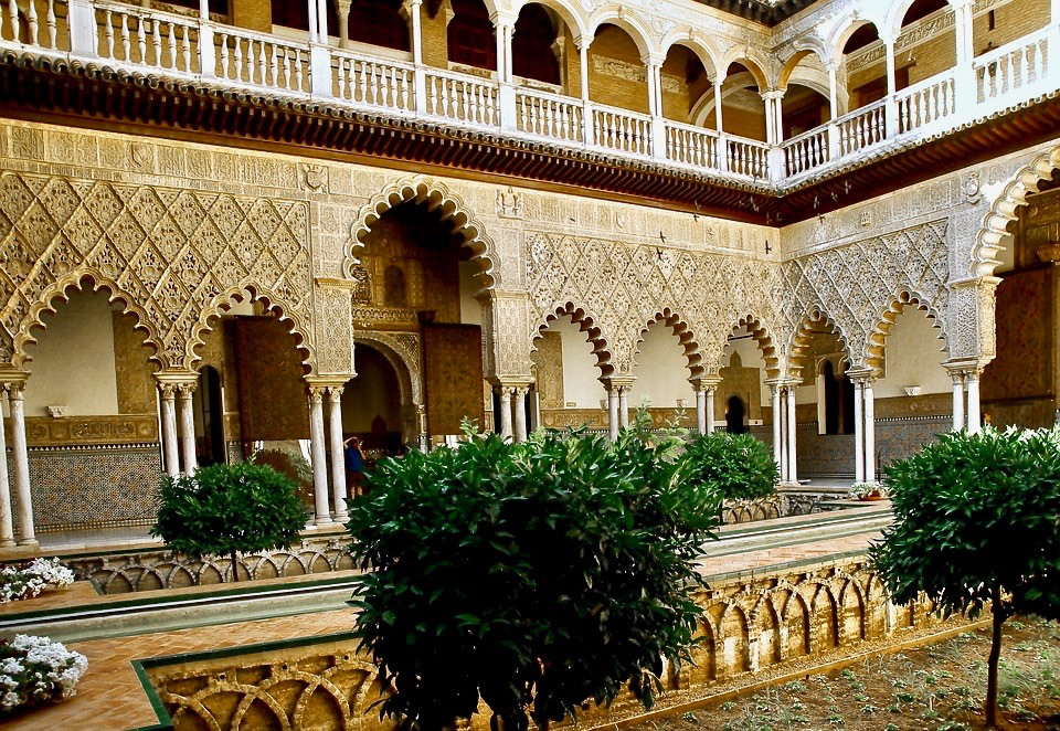 Courtyard of the Maidens in the Alcazar