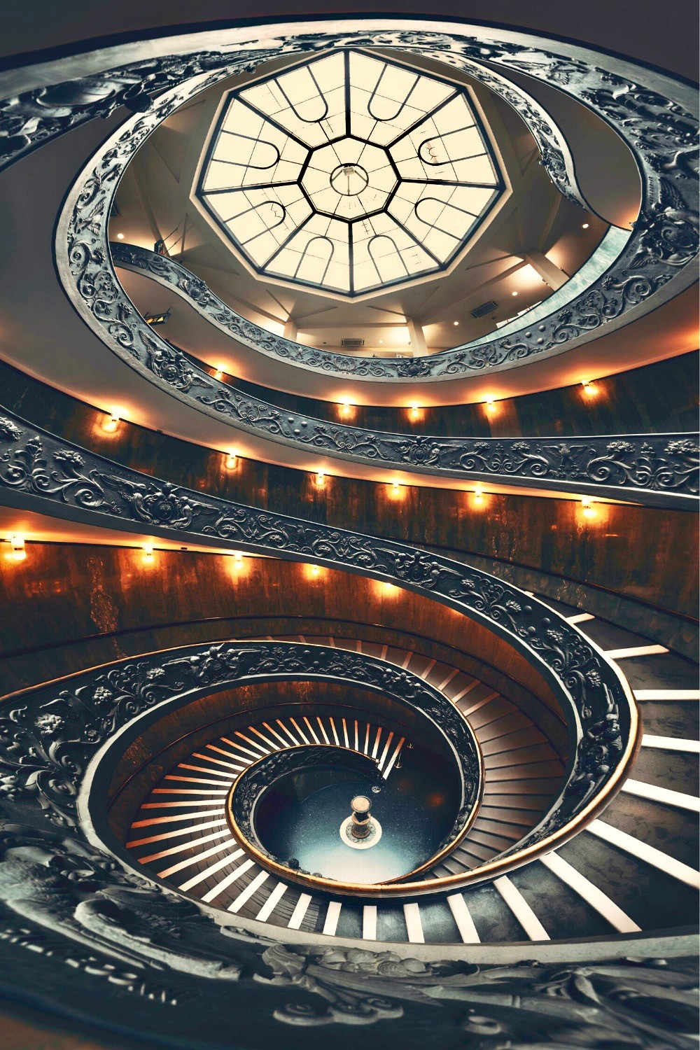 beautiful spiral staircase in the Vatican Museums