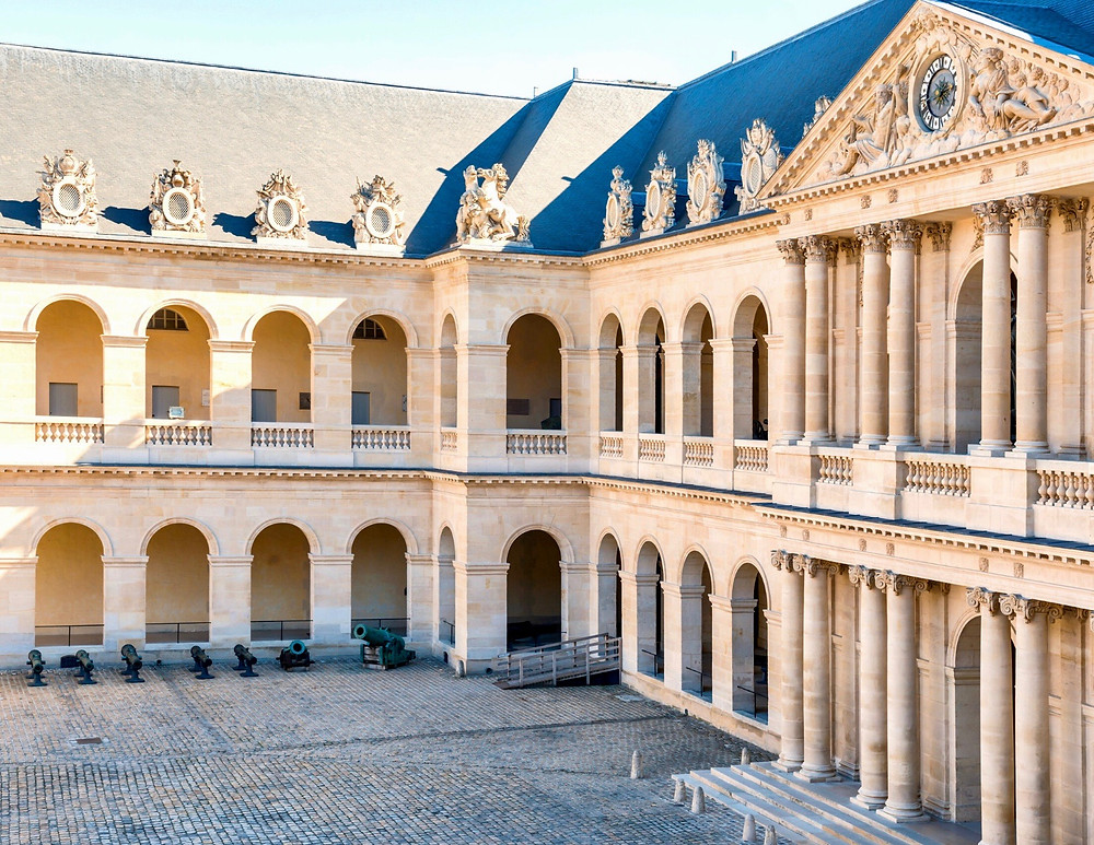 courtyard of the Army Museum at Les Invalides
