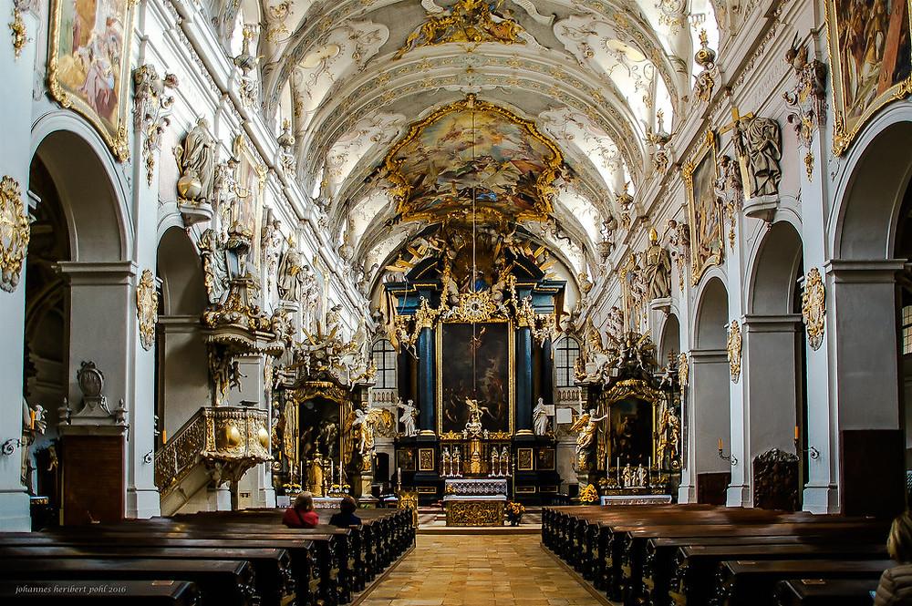 the church interior of St. Emmermam Abbey