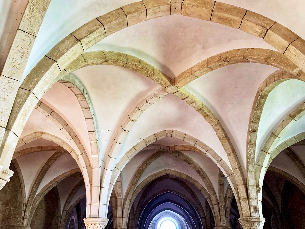 vaulted ceilings of the Monks' Hall