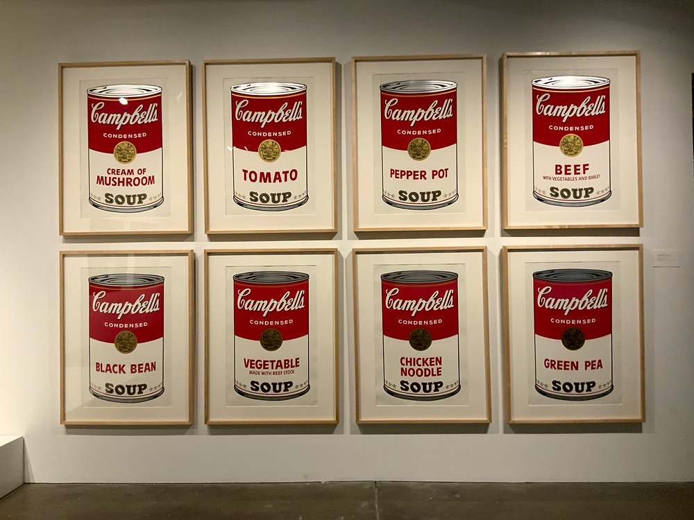Warhol's famous Campbell's Soup paintings, which gave him his big break in the art world