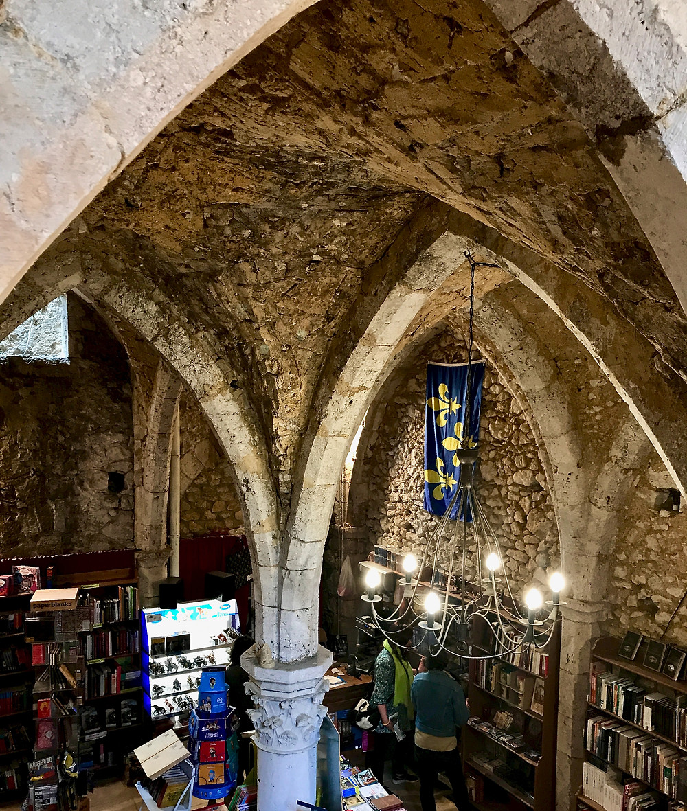 delightful medieval bookshop in the picturesque UNESCO village of Provins