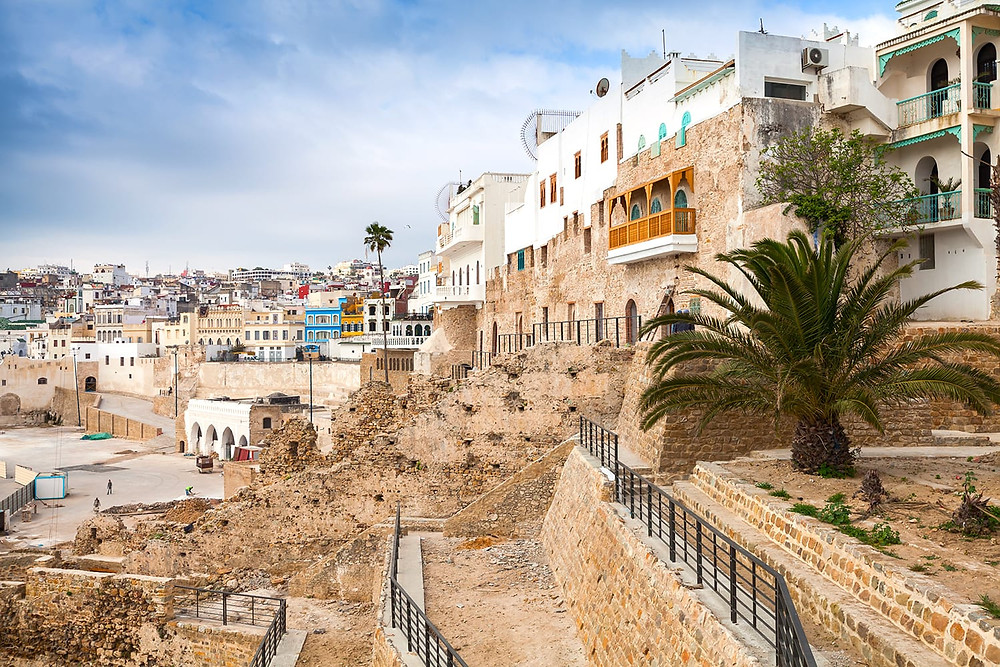 ancient walls of the Medina in Tangier