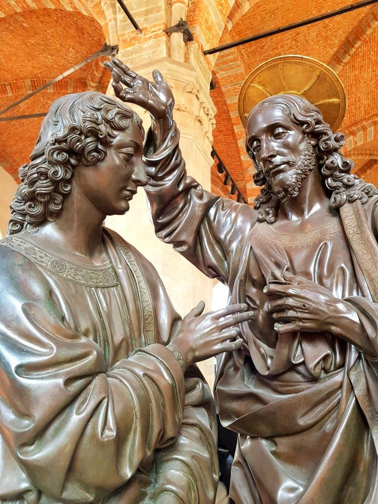 Verrochio's Doubting Thomas in the Orsanmichele Museum in Florence