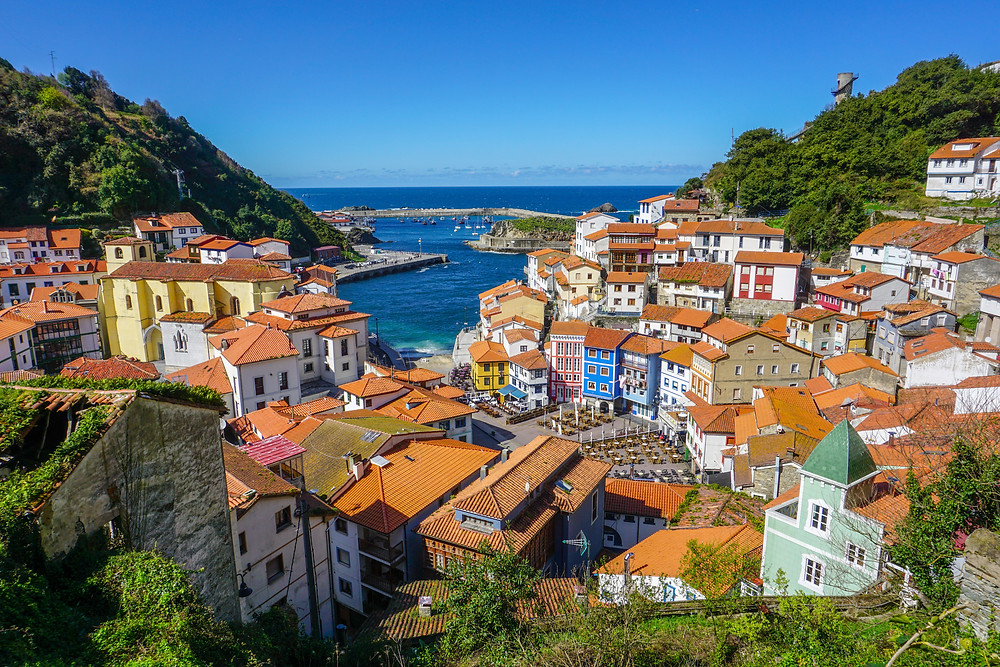 the fishing village of Cudillero in Asturias