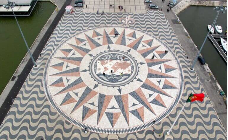 Compass Rose at the Monument of the Discoveries