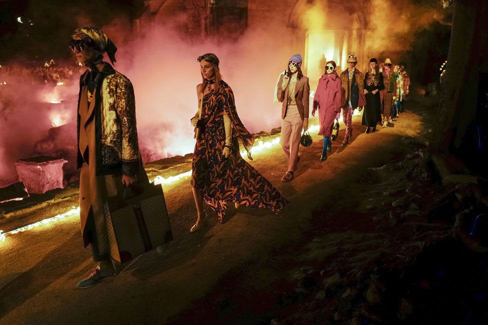 The Gucci 2019 Cruise show in Arles' Alyscamps