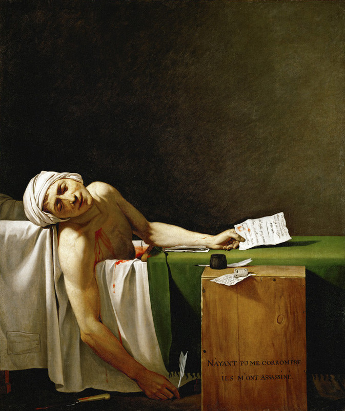 Jacques-Louis David, The Death of Marat, 1793 -- a painting at the Louvre