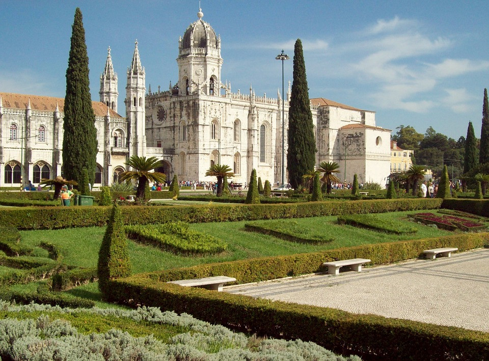 Jerónimos Monastery in the Belem neighborhood of Lisbon