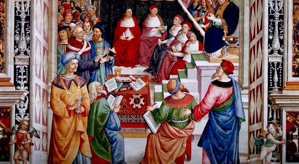 frescos in the Piccolomini Library