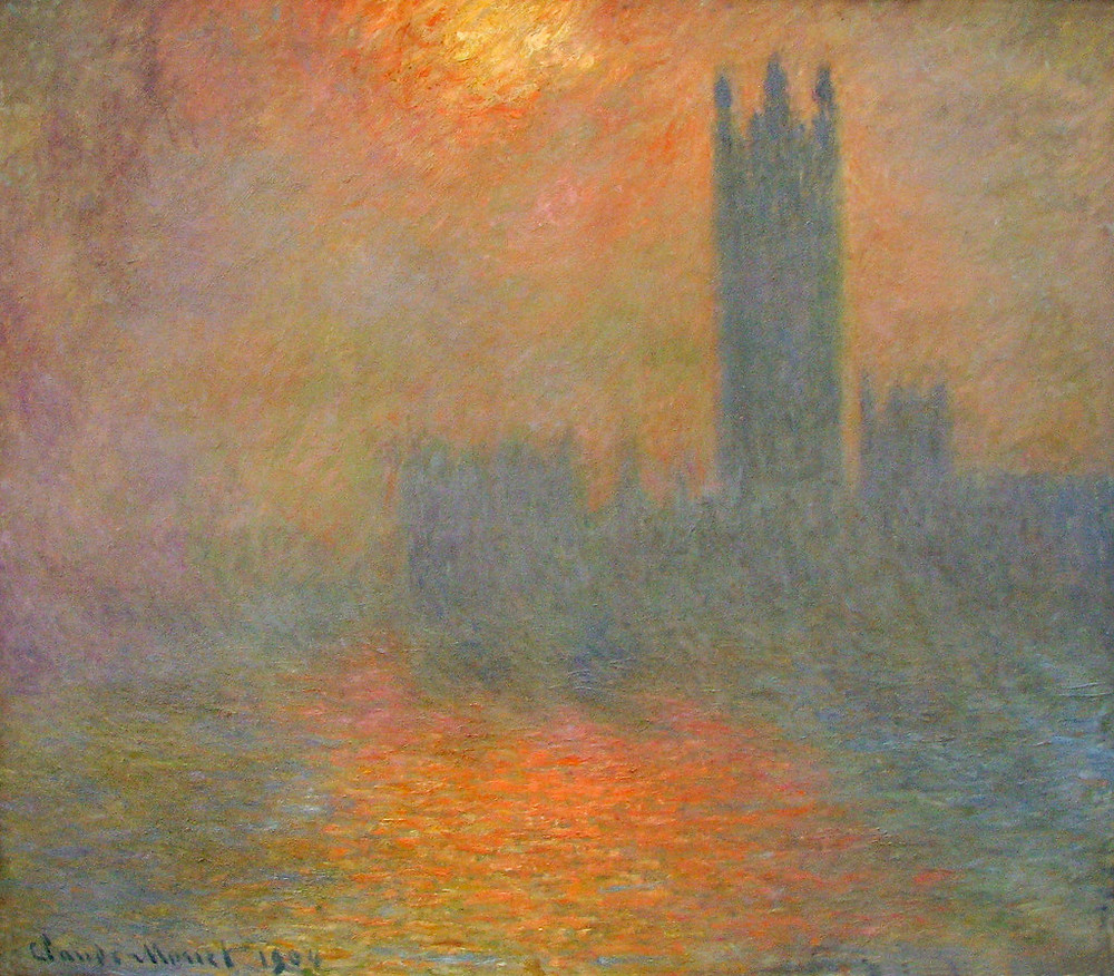 Claude Monet, London Houses of Parliament, The Sun Shining Through the Fog, 1904