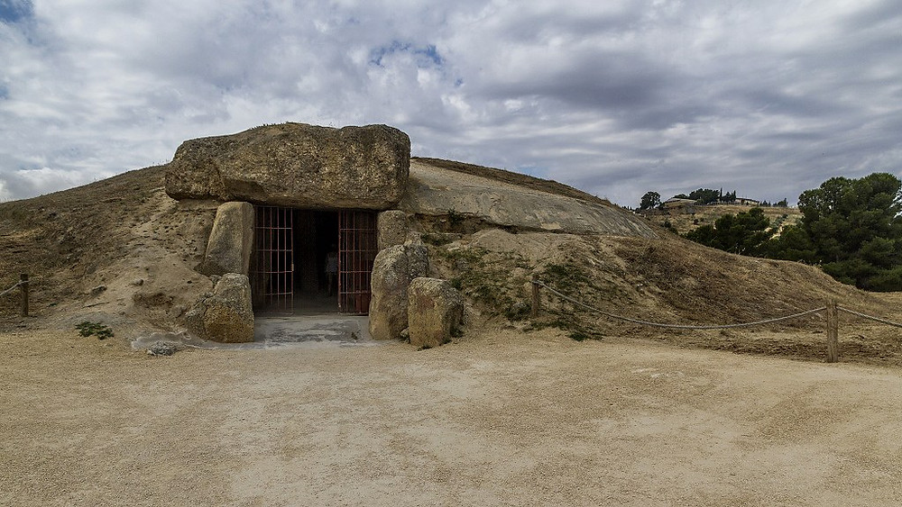 the entrance to Menga dolmen