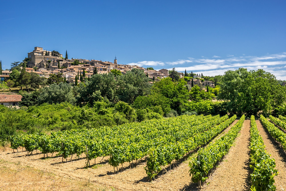 the hilltop village of Ansouis France in Provence